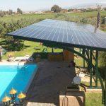 Ombrière solaire de jardin 7 kWc